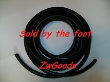 "1/4"" I.D x 1/8"" w x 1/2"" O.D Latex Rubber Tubing Heavy Duty Black Thick Wall"
