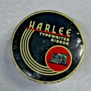 Vintage Harlee Ribbon &  Carbon Co Typewriter Ribbon Tin only