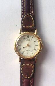 Ladies Lorus Wristwatch  V811 With Interesting Stitched Leather Strap