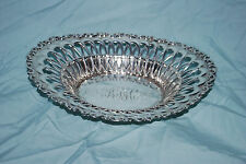 STERLING SILVER Oval Dish Whiting 3810 925/1000 Lion Rampart 1871-1896 Inscribed