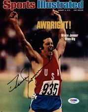 BRUCE JENNER SIGNED AUTOGRAPHED 8x10 SPORTS ILLUSTRATED COVER PHOTO RARE PSA/DNA