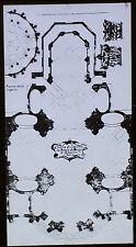 Plan, Church of Sainte-Anne-la-Royale, Paris, France, Magic Lantern Glass Slide