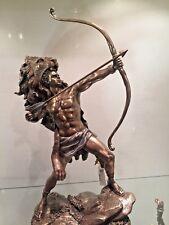Nude male Statue Hunter Bow Arrow Centaur Lion Head Hercules Indian Bronze $185