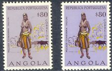 ANGOLA 1957 woman from Cuanhama VF unused (M/M) MAJOR VARIETY: MISSING COLOUR