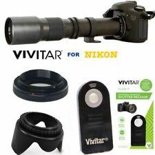 VIVITAR 500MM TELEPHOTO ZOOM LENS + REMOTE FOR NIKON D3400 D5600 D5100 D5300 D80