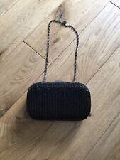 Clarks Black Beaded Clutch Bag