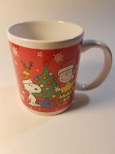 Peanuts Christmas Holiday Coffee Mug 2011 Charlie Brown Snoopy