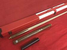 HANDMADE ASH SNOOKER / POOL CUE  AND CASE SET ALL INCLUDED