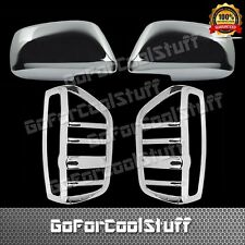 05-15 For Nissan Frontier Mirror+Taillight Chrome Abs Covers