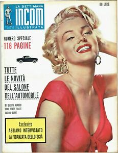 MARILYN MONROE Cover Magazine 1959 Italy Vintage Weekly Issue Rare Sexy Incom