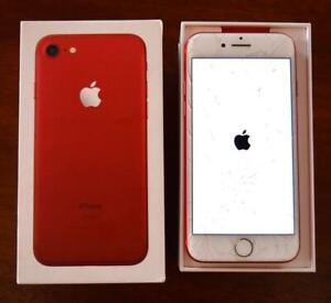 APPLE iPHONE 7- 128GB (PRODUCT) RED A1660 Unlocked Verizon