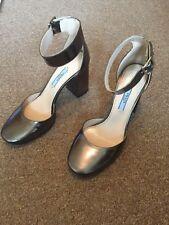 PRADA Silver Block Heel Women's Shoes Size 4UK (37 Eu)