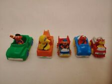 LOT OF 6 MUPPETS PLAYSCHOOL 1981-1983 DIE CAST Cars Trucks Plastic Elmo Big Bird