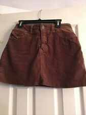 "Limited Too Girls Skort Size 14 Reg Brown Soft Corduroy w/ Pockets 27"" Waist"