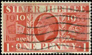 Great Britain  Scott #227v Inverted Watermark Used