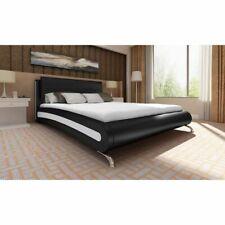 vidaXL Bedframe Kunstleer Zwart 140x200 cm Tweepersoonsbed Bedden Bedframe Bed