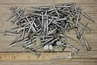 """1 1/2"""" Square NAILS 100 lot antique wrought iron look round flat head Brads 1.5"""""""