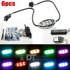 6pc MultiColor 5050 RGB SMD 36 Led Oval Pod Benelli Motorcycle Led Lighting Kit