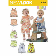 LOOK SEWING PATTERN Babies' Top, Shorts and Romper SIZE NB - L 6198