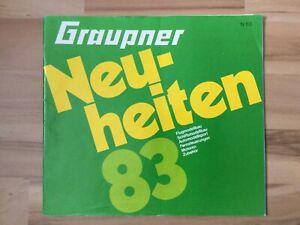 Graupner Katalog Neuheiten 1983