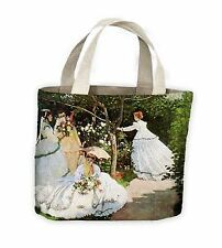 Claude Monet Mujer en el jardín Bolso De Compras Bolso para toda la vida