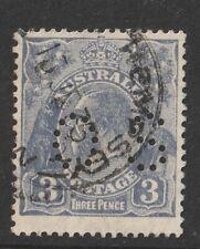 Australia 1929 : 3d. Blue King George V Small Multple WMK Perf OS Fine Used
