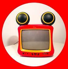 """TELEVISORE TV Vintage Walt Disney Miki Mouse 13"""" Anni 90' Funzionante"""