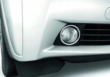 Genuine Toyota 2x Chrome Front Fog Light Lamps Left Right Surround PZ415I0490ZB