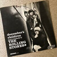 "THE ROLLING STONES ""December's Children"" -- Original 1965 Mono LP First Pressing"