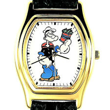 Popeye The Sailor, Tali Fossil Made, Gold Tone Rare Barrel Case Watch! Just $199