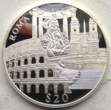 Liberia Rome 20 Dollars Silver Coin,Proof