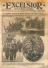 Equipage Paquebot Wandle Tamise Thames Captain Mastin London Londres  WWI 1916