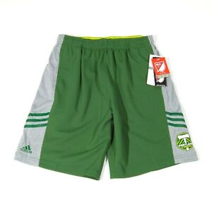 Adidas Climalite MLS Soccer Portland TImbers Athletic Shorts Youth Sz XL (18)