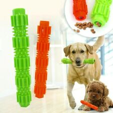 NEW Durable Dog Chew Toy Elasticity Stick Treat Dispensing Rubber Teeth Cleaning