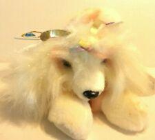 "Aurora Puppillons White Butterfly Dog NEW  10"" Plush Stuffed Animal"