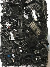 100+ Black LEGO PIECES HUGE BULK LOT OF BRICKS PARTS @ RANDOM RARE BLOCKS LBS LB