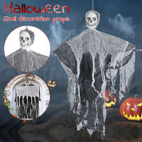 Decoration Skull Haunted House Props Halloween Hanging Ghost Human Skeleton