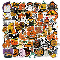 50 Halloween Holiday Stickers Vinyl  Decals  Lot for Kid Trick Treat Party Gift