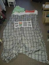IKEA KURA Baldachin Bettvorhang für Kinderbett in grau-weiss