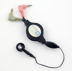 Auricolare Cuffia In Ear Retrattile con Microfono Jack 3,5mm per PC Laptop Skype