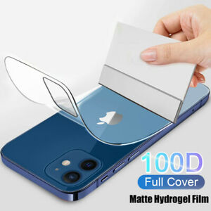 Soft Hydrogel Film Screen Back Protector For iPhone 12 Pro Max 11 XR X 8 7 Plus