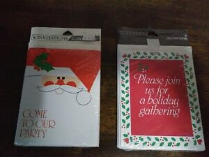 Christmas Party Holiday Gathering Invitations Contempo 2 Packs of 8