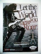 PUBLICITE-ADVERTISING :  Guitare IBANEZ Artist Series  2007 ART100BK,ARX120BK