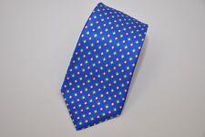 NWT Kiton Napoli Blue with Green Orange Diamonds Silk Tie