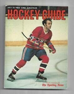 1977-78 The Sporting News Hockey Guide---Guy LaFleur   EX
