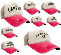 Men Women Boating Hat Baseball Cap Captain,Skipper,Wreck,Pirate,Drunk Sailor Pin