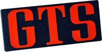 Auto Relief Schild GTS Emblem 12 cm in ROT HR Art. 144163 selbstklebend