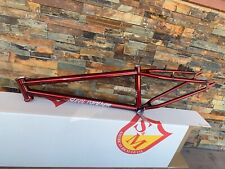 "S&M 24 INCH STEEL PANTHER RACE FRAME TRANS CANDY RED 21.5 21.5"" SPEED WAGON"