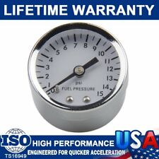 "Brand Filled Gauge 0-15 psi Fuel Pressure Oil Pressures White 1.5"" Diameter 1561"