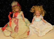 "Pair of Nancy Ann Storybook Doll Blondes Bisque w/Frozen Legs 5.5""/6.5"" Lovely"